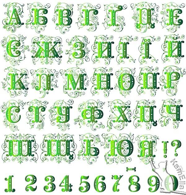 Український алфавіт - весняна зелень