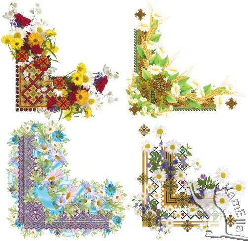 Кутики з квітами