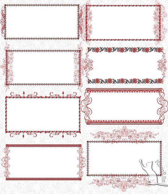 Карточки для тексту з вишивкою