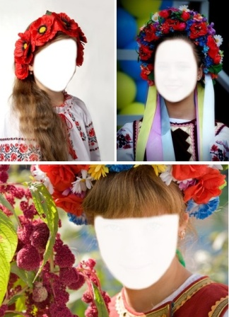 Шаблони для фото - Україночка