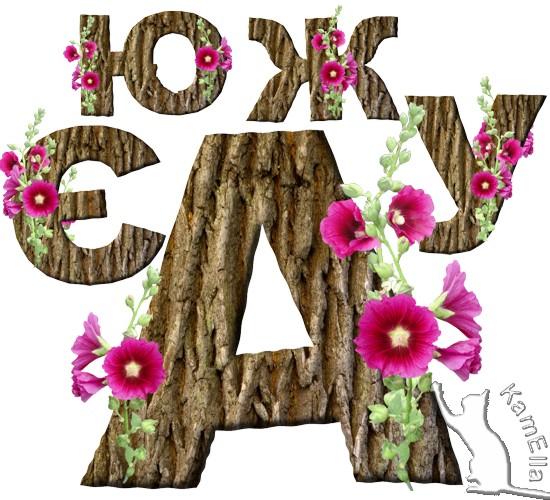 Український алфавіт з мальвами