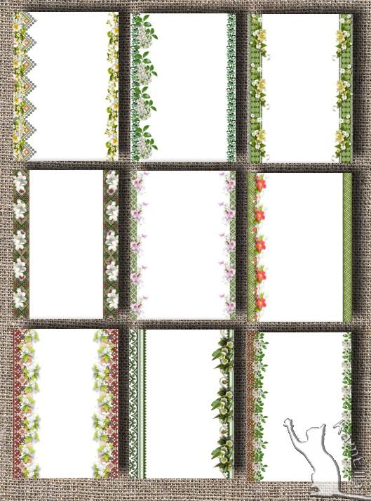 Аркуші для тексту з весняним цвітом