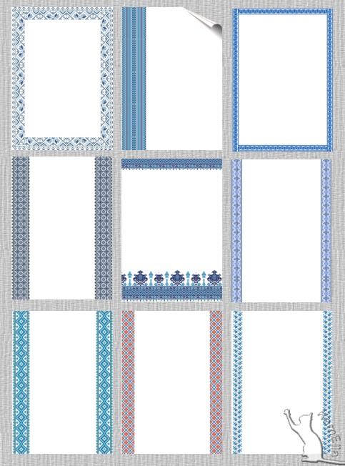 Аркуші для тексту - зимова вишиванка