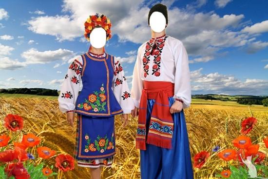 Шаблон для фото - В українських костюмах