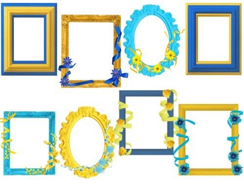 Жовто-блакитні рамки