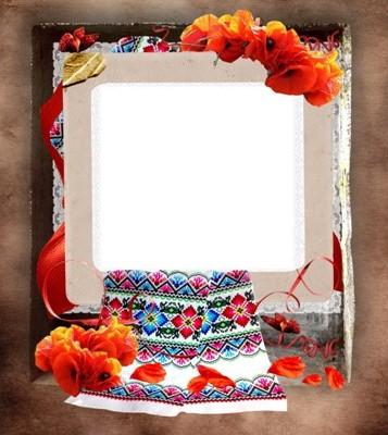 Рамка для фото - Маки червоні