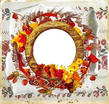 Рамка для фото - Осінь у вишиванці