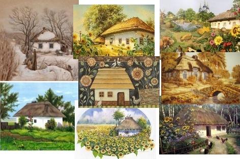 Схеми для вишивання - Українська хата