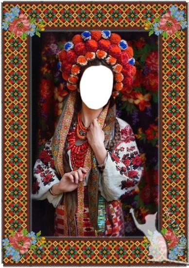 Шаблон і рамка для фото - Українські барви